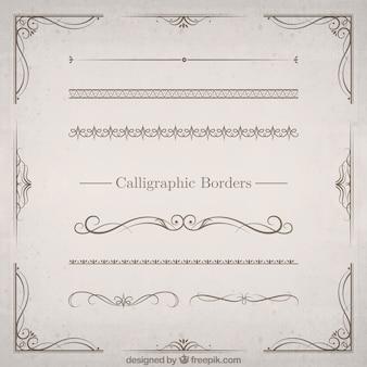 Set de bordes caligráficos