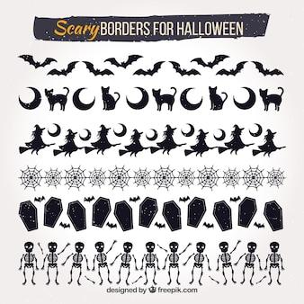 Set de bordes decorativos de halloween