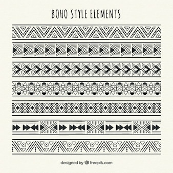 Set de bordes étnicos geométricos
