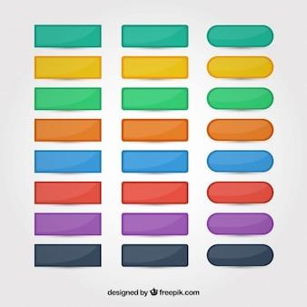 Set de botones web de colores
