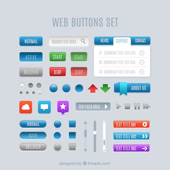 Set de botones web