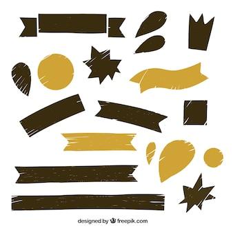 Set de cintas en tonos marrones
