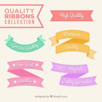 Set de cintas vintage planas de calidad