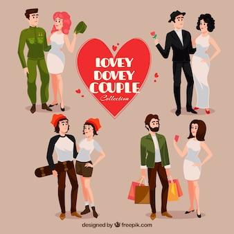 Set de cuatro tipos de parejas