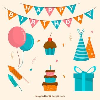 Set de decoración de cumpleaños y pasteles