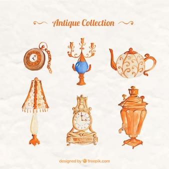 Set de decoración vintage de acuarela