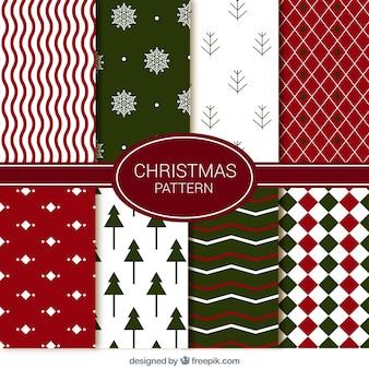 Set de decorativos patrones de navidad abstractos