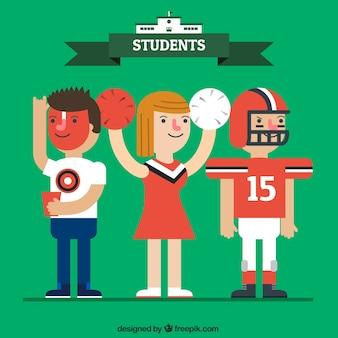 Set de deportes universitarios
