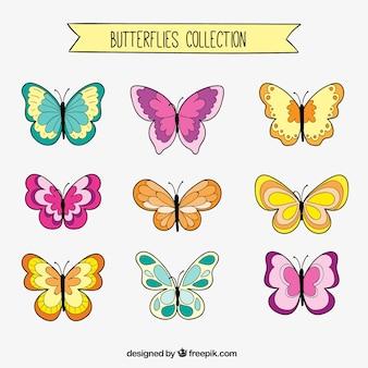 Set de dibujos de mariposas