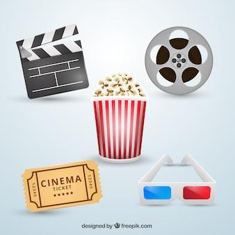 Set de elementos de cine y accesorios