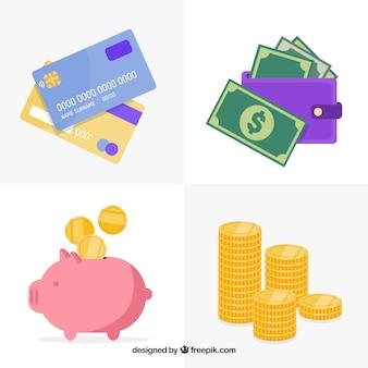 Set de elementos de economía