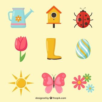 Set de elementos primaverales