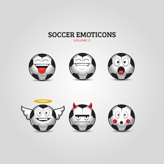 Set de emoticonos de fútbol