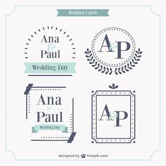 Set de etiquetas de boda