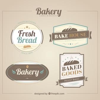 Set de etiquetas de panadería