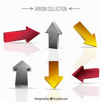Set de flechas en tres dimensiones