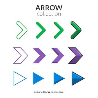 Set de flechas minimalistas