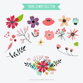 Set de flores en estilo vintage
