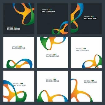 Set de folletos bonitos abstractos