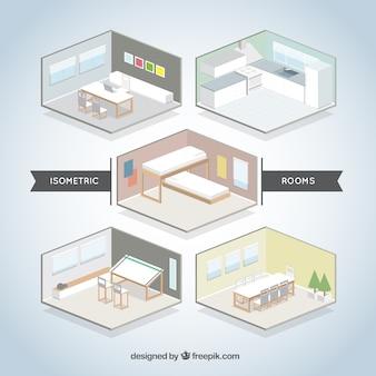 Set de habitaciones isométricas