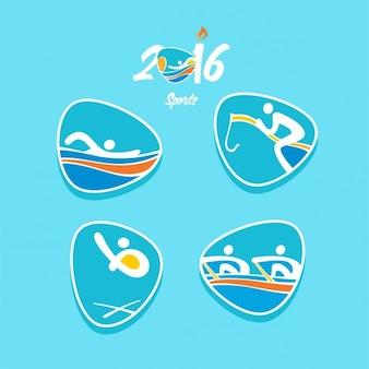 Set de iconos abstractos de juegos olímpicos