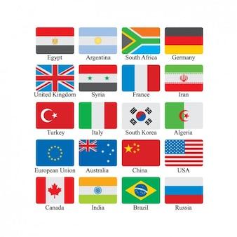 Set de iconos de banderas
