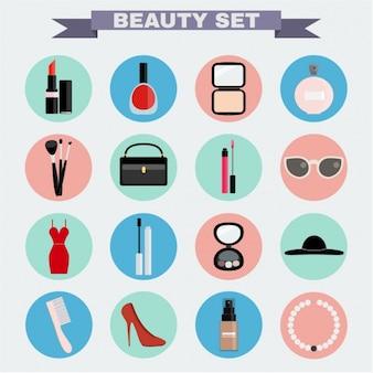 Set de iconos de belleza