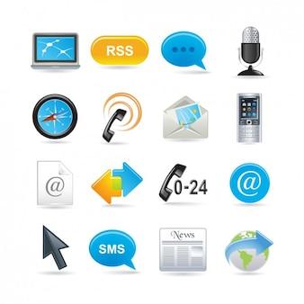 Set de iconos de comunicación