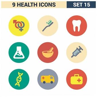 Set de iconos de cuidados de salud