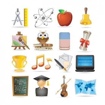Set de iconos de educación