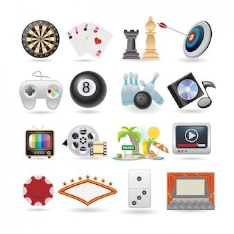 Set de iconos de entretenimiento