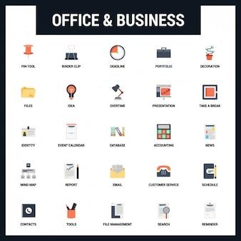 Set de iconos de oficina y negocios