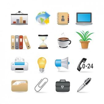Set de iconos de oficina