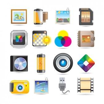 Set de iconos de photografía
