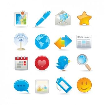 Set de iconos de red social