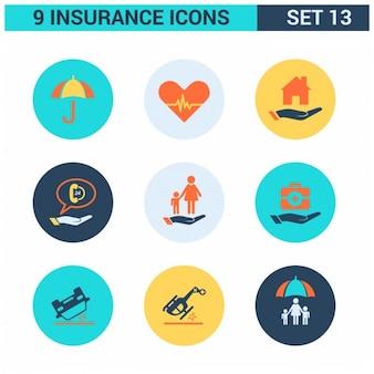 Set de iconos de seguros