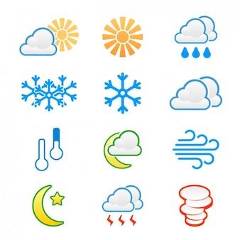 Set de iconos del tiempo