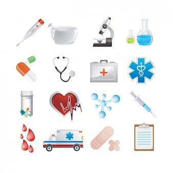 Set de iconos médicos