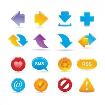 Set de iconos multimedia