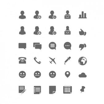 Set de iconos planos de red social