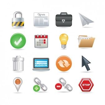 Set de iconos universales de web