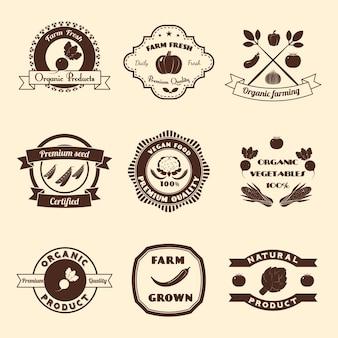 Set de insignias agrícolas