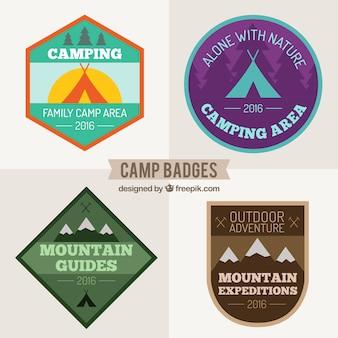 Set de insignias de camping
