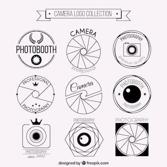 Set de logos de cámaras de foto