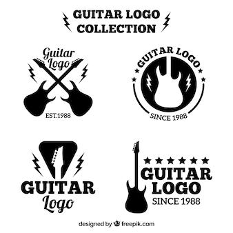 Set de logos de guitarras