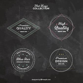 Set de logos geométricos vintage
