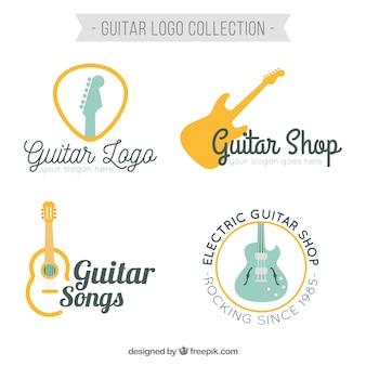 Set de logotipos de guitarra