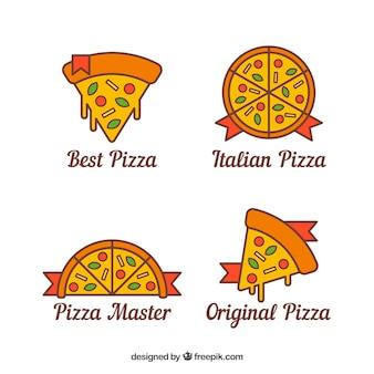 Set de logotipos de pizza