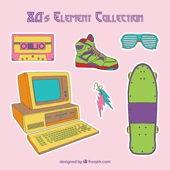 Set de los elementos de los 80