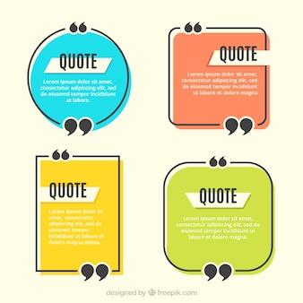 Set de marcos de citas vintage de colores